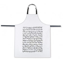 Apron - music sheet (white)
