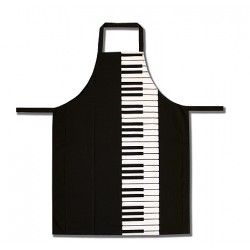 Apron - keyboard (black)